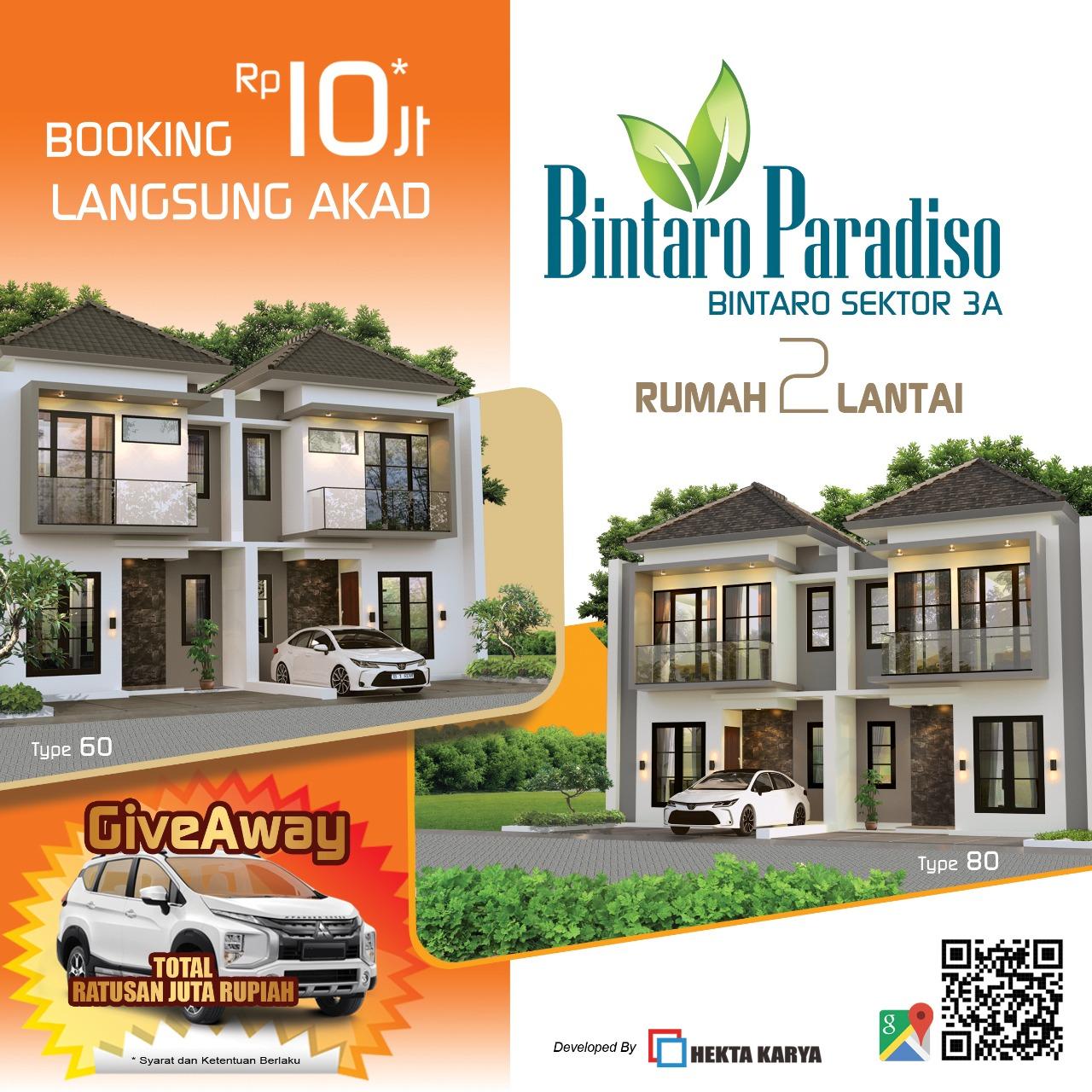 Promo - Bintaro Paradiso - Rumah Cluster Bintaro Sektor 3A Tangerang
